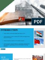 BOYCOTT OF CHINESE PRODUCTS