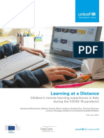Learning at a Distance Childrens Remote Learning Experiences in Italy During the Covid 19 Pandemic