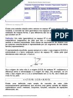 GEOMETRIA ESPACIAL - VETORES NO ESPAÇO TRIDIMENSIONAL