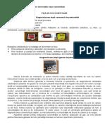 FIȘĂ de DOCUMENTARE-Diagnosticarea După Consumul de Combustibil Și După Gradul de Poluare