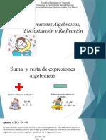 Expresiones Algebraicas, Factorización y Radicación