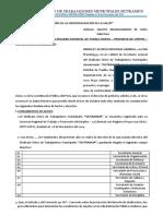 SOLICITO RECONOCIMIENTO DE JUNTA DIRECTIVA SINDICAL