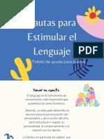 Folleto Estrategias Estimulación del Lenguaje, Prevención de Dificultades