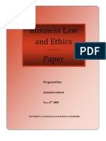 Business Law and ethics paper