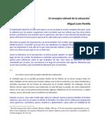 El concepto náhuatl de la educación por Miguel León-Portilla