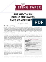 Economic Policy Institute report on Wisconsin compensation