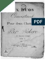 6 Duos concertants, Op.1 (Solère, Étienne)