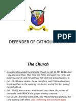 DEFENDER OF CATHOLIC FAITH