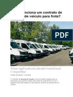 Contrato de Locação de Veículos e Maquinas