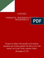 Unidad VI - Solvencia y Solidez Financiera #2
