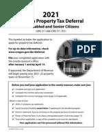 Oregon Property Tax Deferral Disabled Senior 490 015