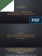 Unidad 9 - Competencia Monopolística y Oligopolio