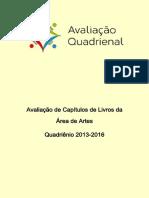 AVALIAÇÃO-QUADRIENAL-CAÍTULOS DE LIVROS-CAPES (2013-2016)