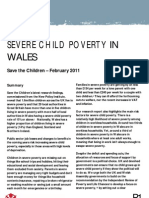 Severe Child Poverty in Wales