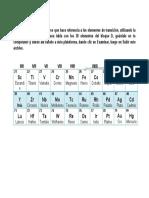 Identificación de Los Elementos Del Bloque D