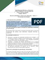 Guía de actividades y rúbrica de evaluación - Unidad 1 - Tarea 1 - El Concepto de Integral