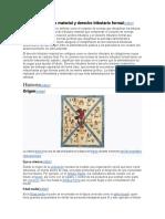 Derecho tributario material y derecho tributario formal