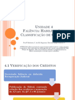 Unidade 4. Habilitação e Classificação de Créditos