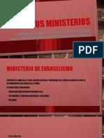 Sus ministerios