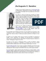 Biografía Augusto C Sandino