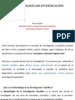 01 INVESTIGACIÓN CIENTÍFICA. conferencia Introductoria