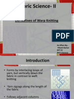 Derivatives of Warp Knitting