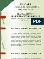 CLASE 08 - PAO III 2020. COSTOS INDIRECTOS