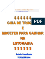 Dicas Lotomania