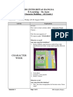 Character Week E-Learning