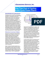Calculating True Cost of Cycling Combined Cycle Power Plants