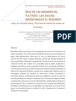 Historia del manatial El Rosario