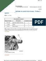 Válvula de alivio (Enfriador de aceite de los frenos) - Probar y Ajustar
