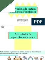 Actividad introducción conciencia fonológica