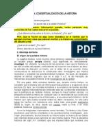 PRIMERA SESIÓN  DE HISTORIA