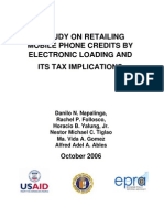 A Study on Retailing Mobile Phone Credits by Electronic Loading and Its Implications