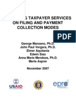 Improving Taxpayer Services on Filing and Payment Collection Modes