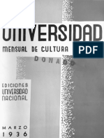Revista de la Universidad marzo-1936