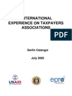 International Experience on Taxpayers Association