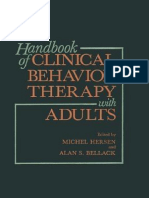 Handbook of Clinical Behavior Therapy & Adults by Michel Hersen