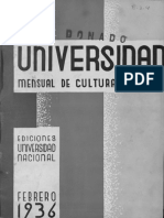 Revista de la Universidad febrero-1936