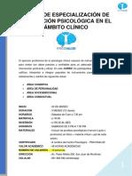 CURSO DE PRUEBAS PSICOLOGICAS DEL AMBITO CLINICO - PSICOSALUD