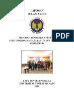 COVER LAPORAN AKHIR PPG UNIMA 2020