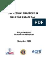 Tax Evasion Practices in Philippine Estate Tax