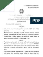 Terremoto Sentenza Tar Lazio