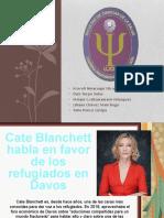 Cate Blanchett habla en favor de los refugiados
