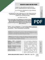 El Desistimiento Del Denunciante en El Procedimiento Administrativo Disciplinario - Autor José María Pacori Cari