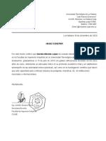 Carta de recomendación CUJA