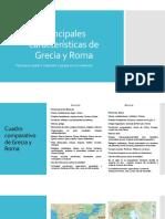 Principales características de Grecia y Roma