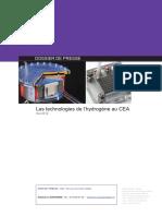 Les technologies de l'hydrogène au CEA