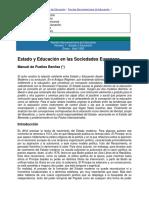 Puelles Benitez, Manuel-Estado y Educación en las Sociedades Europeas
